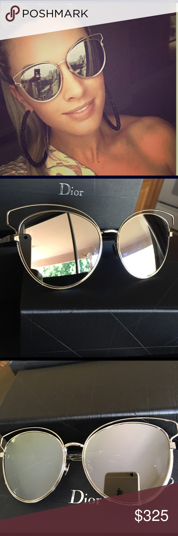 501e1ced3f9 Christian Dior Sideral 2 sunglasses white  silver Brand new with all  accessories white and wire frame with silver shiny lenses comes with.