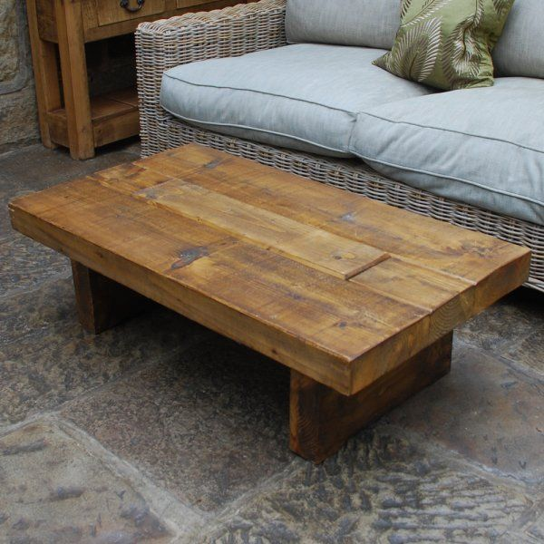 Chunky Wood Tv Table Coffee Occasional Tables Rugged T Light Coffee Table For The