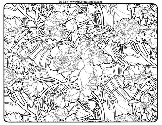 Free Coloring Pages from Adult Coloring Worldwide. Art brought to ...