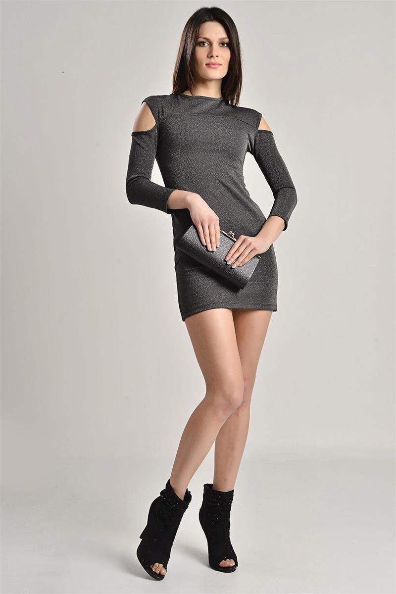 Simli Siyah Elbise Siyah Elbise Elbise Moda