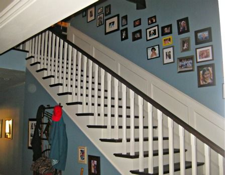 Famous staircases on pinterest for Modern family dunphy house decor