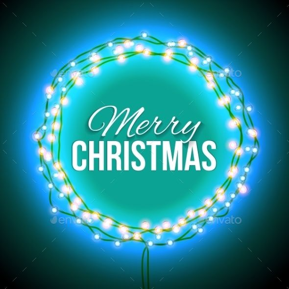 Congratulation To Christmas With Blue Lights Merry christmas - congratulation templates