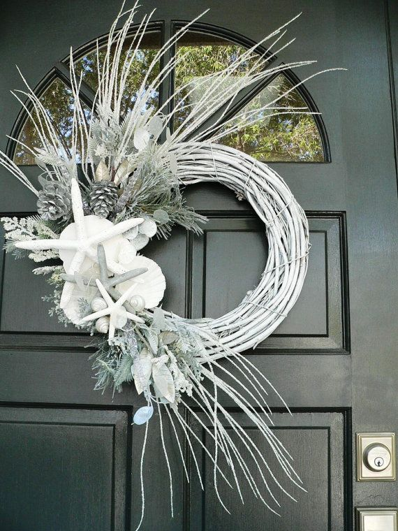Beachy Wreaths - Double Doors-MATCHING CHRISTMAS WREATHS-Holiday ...