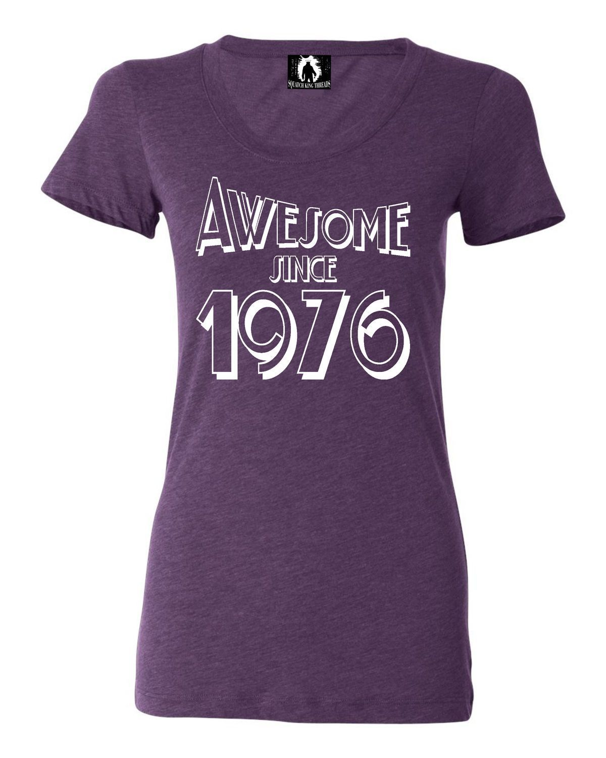 Womens Awesome Since 1976 Funny Tri-Blend T-shirt