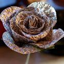 Rosen basteln aus alufolie