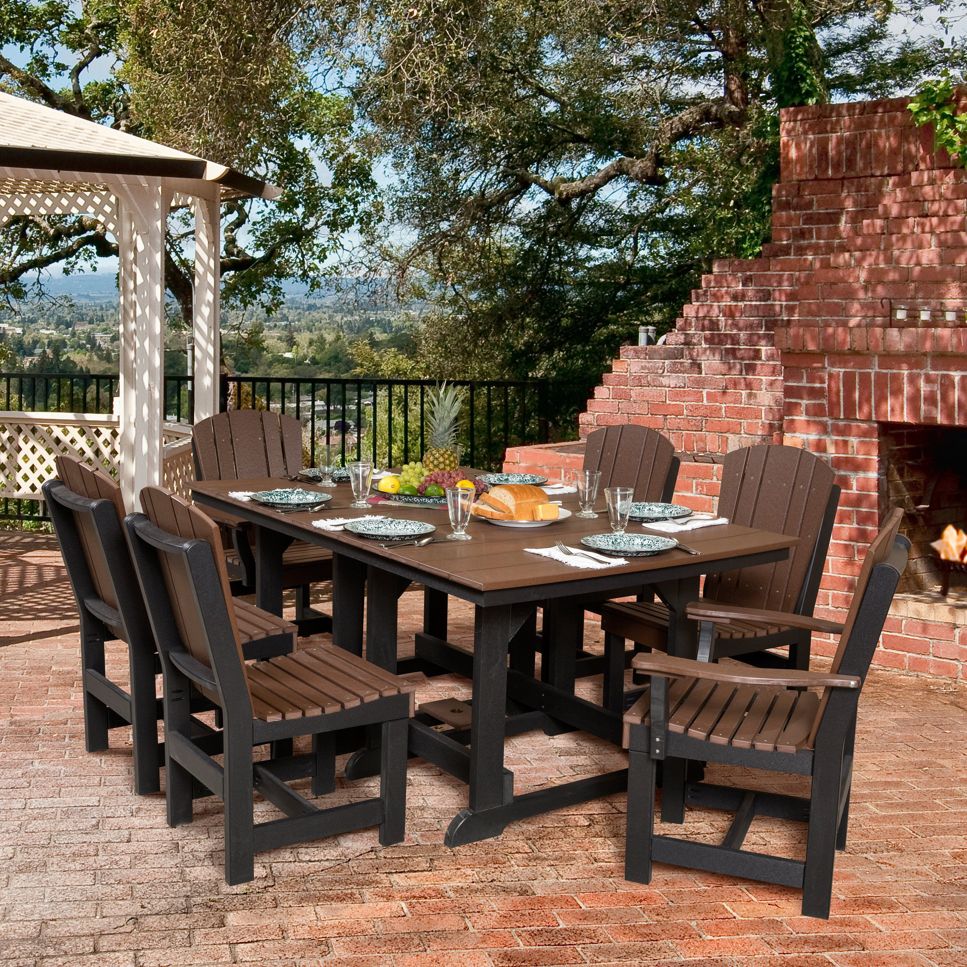 Little Cottage Heritage Recycled Plastic 7 Piece Rectangular Patio