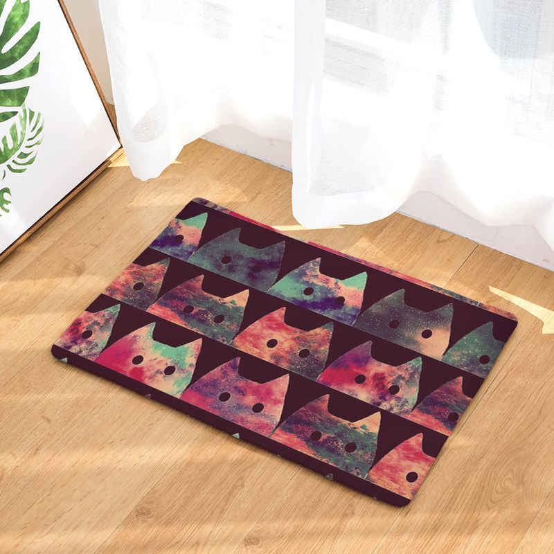 Creative Style Cute Cat Print Carpets Anti Slip Floor Mat Outdoor Rugs Colorful Front Door Mats Printed Carpet Colorful Rugs Front Door Mats