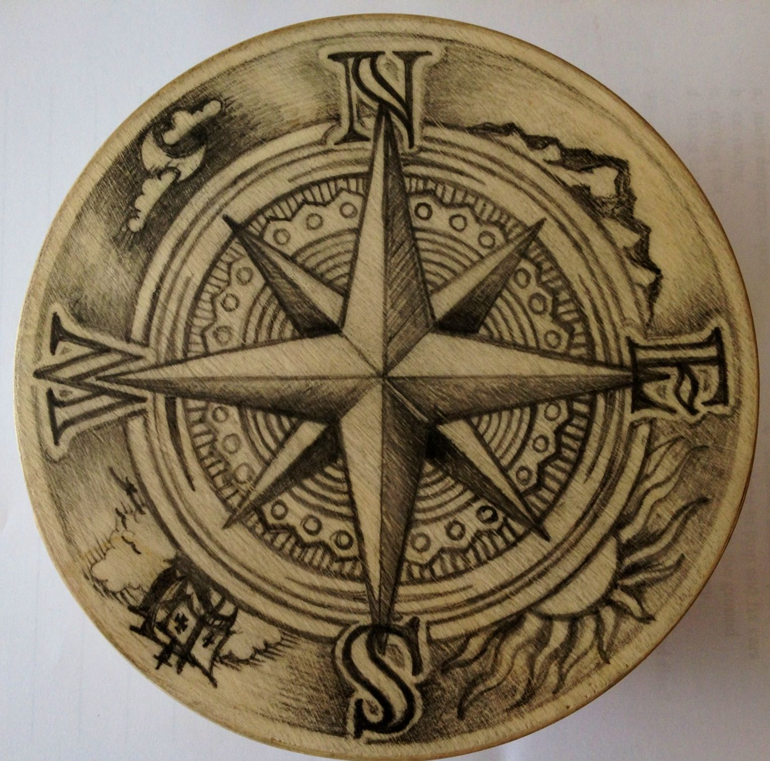 The 25+ best Compass rose ideas on Pinterest | Compass art ...