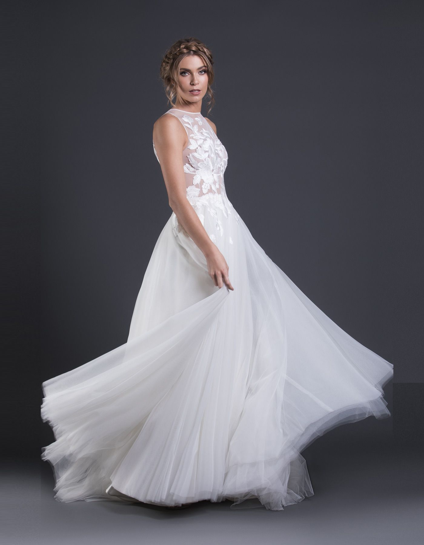 Estee by caleche an ethereal princess style gown with a