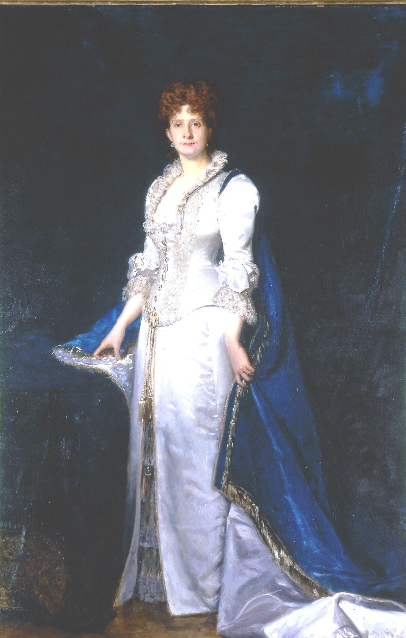 Portrait of Queen Maria Pia by Carolus-Duran, 1880 http://www.matriznet.dgpc.pt/MatrizNet/Objectos/ObjectosConsultar.aspx?IdReg=990563&EntSep=5#gotoPosition