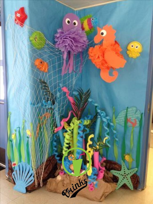 Under The Sea Decorations Ideas Pool Noodle Coral Reef With