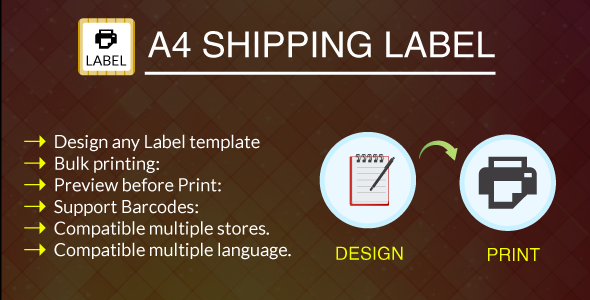 A Print Shipping Label Module  HttpsCodeholderNetItem