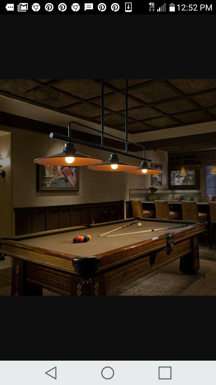 Pool table lighting rooms for fun entertainment pinterest pool table lighting arubaitofo Images