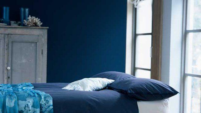 J 39 aime cette photo sur et vous bleu profond et gris intense pinterest bedroom - Deco chambre gris bleu ...