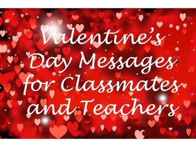 Classmate And Teacher Valentine S Day Wishes With Images