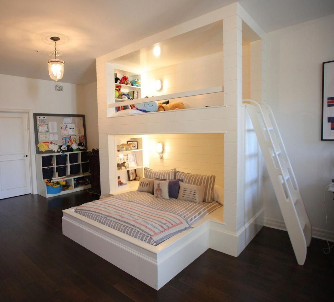 Top Bunk Could Be A Reading Nook Or Spare Bed For Sleep Overs Triplebunkbedsforboysroom