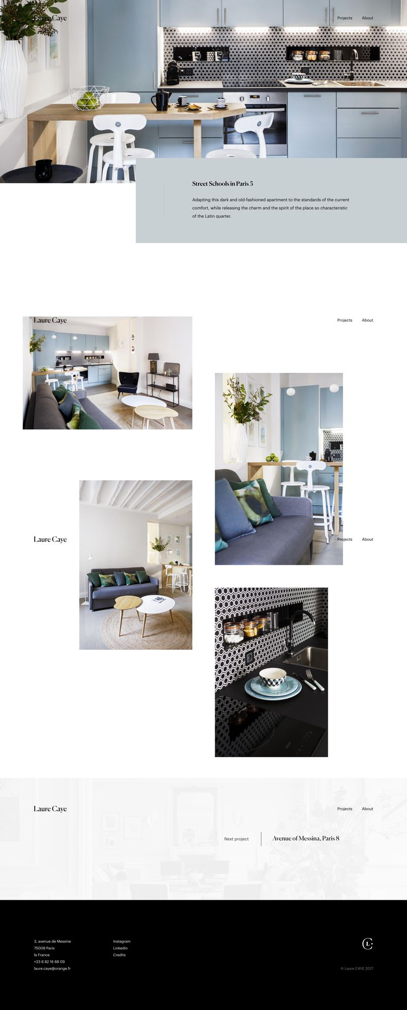 Laurecaye Fr Wordpress Design Web Design Inspiration Layout Design