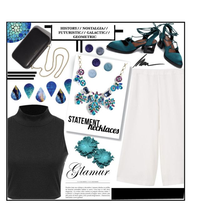 """""""Statement Necklace"""" by avivocsa ❤ liked on Polyvore featuring MANGO, Terre Mère, Torrid, Max Factor, Clare V. and statementnecklaces"""