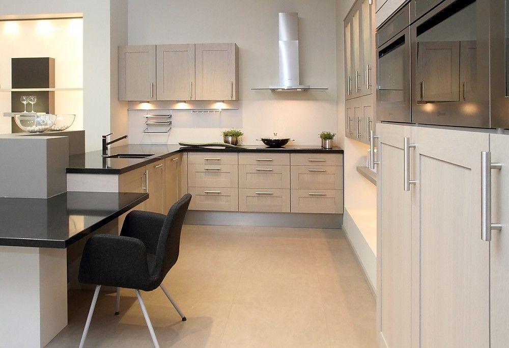 L küche weiß mit dunklem holz kombiniert Küche Pinterest