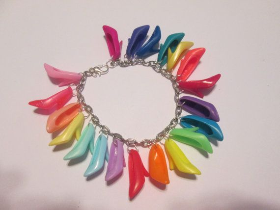 PUMPS  ONLY Barbie Shoe Bracelet  / shades of the Rainbow / ITEM 3290
