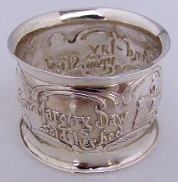 Nursery Rhyme Napkin Ring See Saw Marjory Daw Webster Sterling Silver
