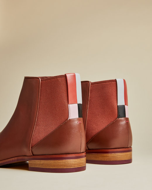 EQUIISE Leather Chelsea boots | Ted baker boots, Leather