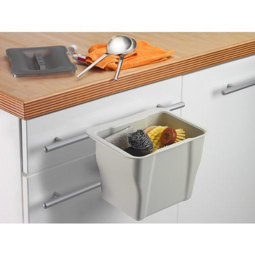 Wesco Kitchen Box, hellgrau mit Deckel in grau-transparent