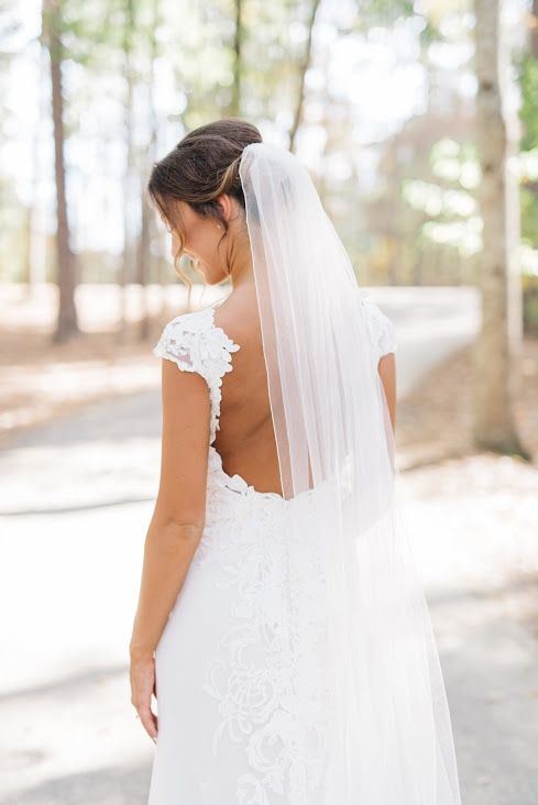 Loving Everything About This Open Back Lace Dress From A Birmingham Alabama Wedding