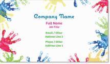 handprint Raised Print Business Cards