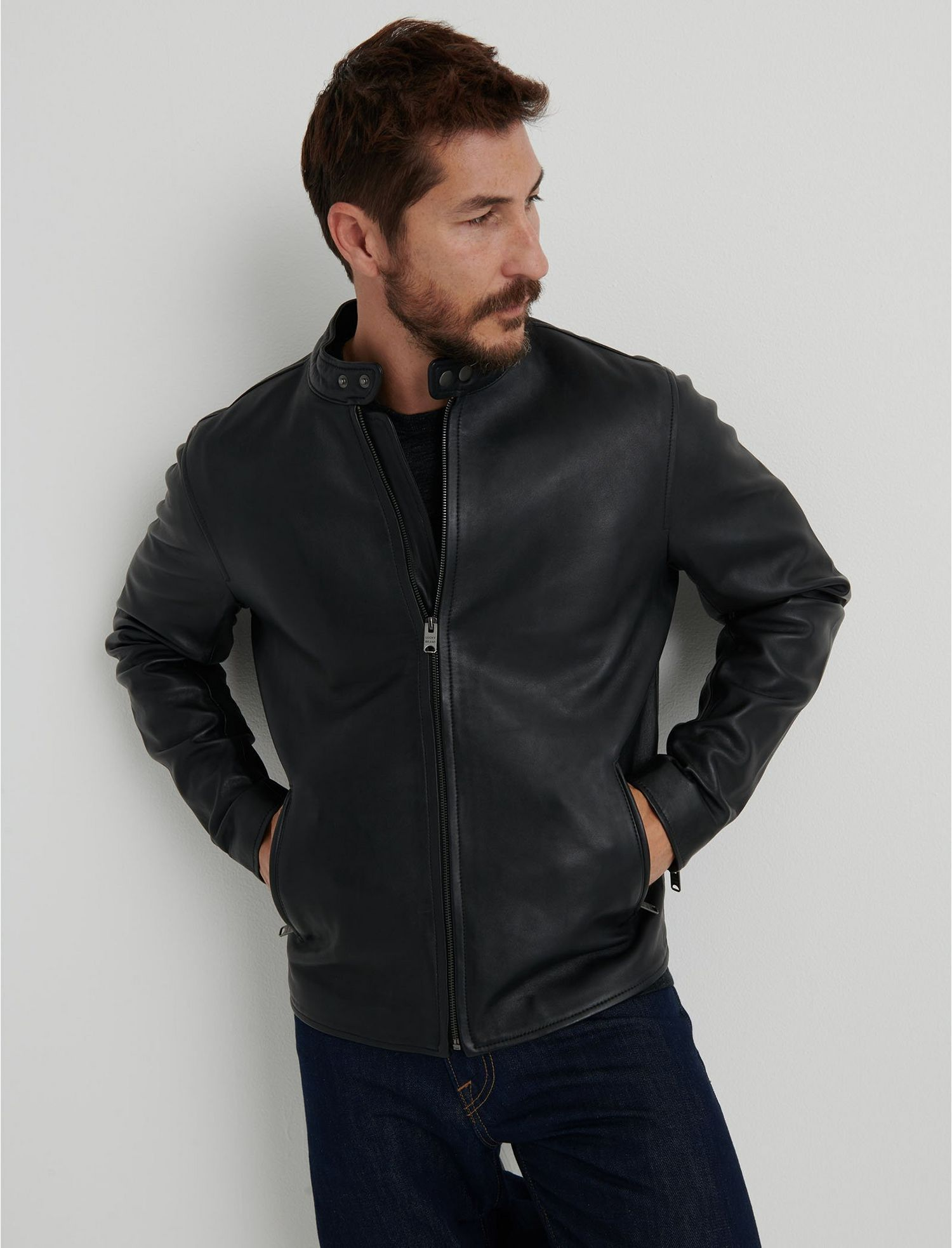 Clean leather bonneville jacket lucky brand outerwear