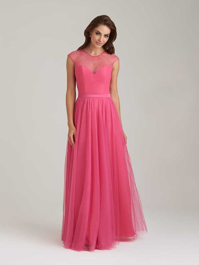 Soft layered tulle long pink bridesmaid dress pink bridesmaid soft layered tulle long pink bridesmaid dress ombrellifo Image collections