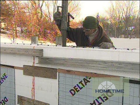 How To Pour Icf Foundation Walls Insulated Concrete Forms Icf Foundation Concrete Forms