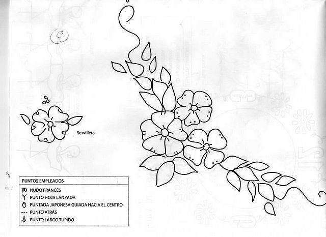 Patrones Para Bordar Cinta Imagui Embroidery Stitches Embroidery Designs Embroidery Patterns