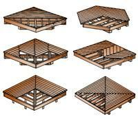 Photo of Decking can be laid in a variety of patterns, including diagonal, checkerboard …
