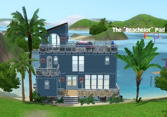 """Sims 3 Finds - The """"Beachelor"""" Pad - house NO CC by flumepie at MTS"""