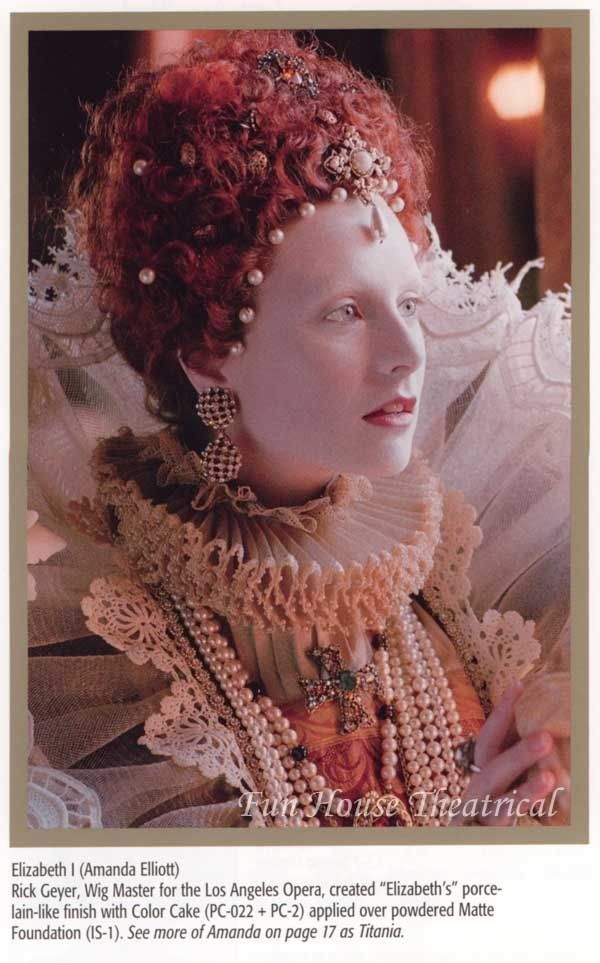 I Wonder If I Could Get Little Pearls In My Hair When It S Long Enough Victorian Makeup Historical Makeup Elizabethan