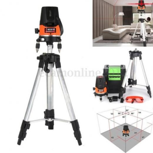 360 5 Line 1 Point Auto Cross Laser Level Self Leveling Rotary Red Beam Tripod Hong Kong A Acheter Pinterest Tools And Instruments