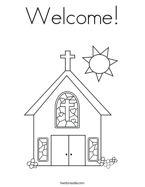 Welcome Coloring Page Sunday School Coloring Pages School Coloring Pages Sunday School Preschool