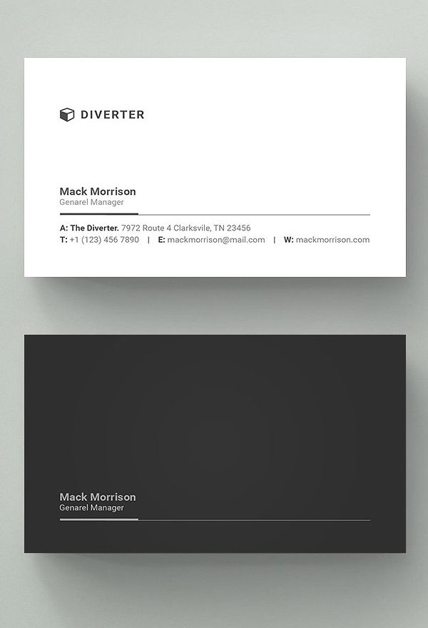 Simple Professional Business Card | web design ideas | Pinterest ...