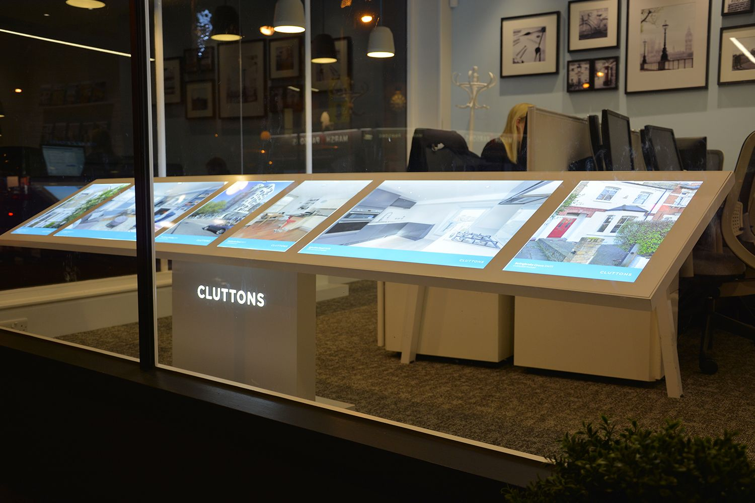 Bespoke Led Estate Agent Window Display Interior
