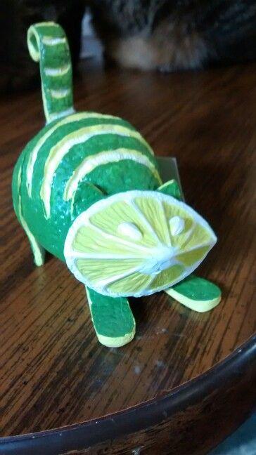 Lime Kitty Homegrown Figurine By Enesco Creative Food Art
