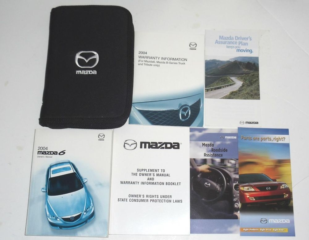 2004 Mazda 6 Owners Manual Book Guide Set