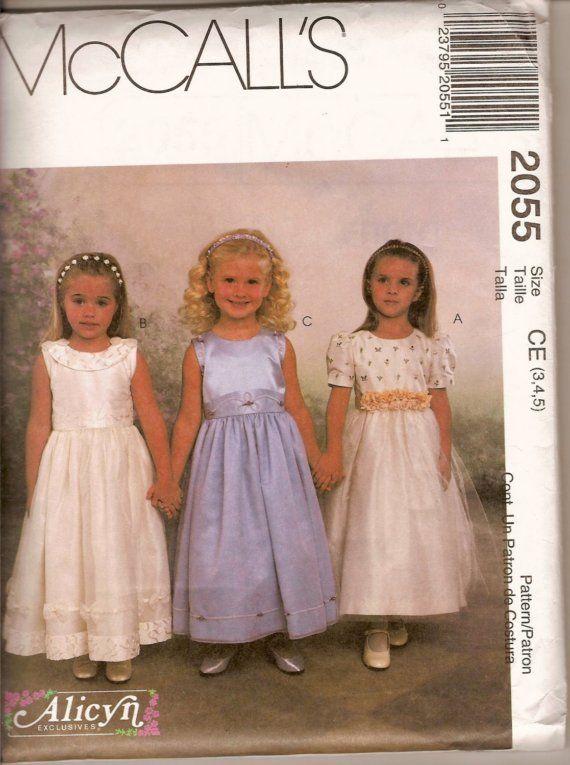 Flower Girl Dress Patterns McCall's   Free Flower Girls Dress ...