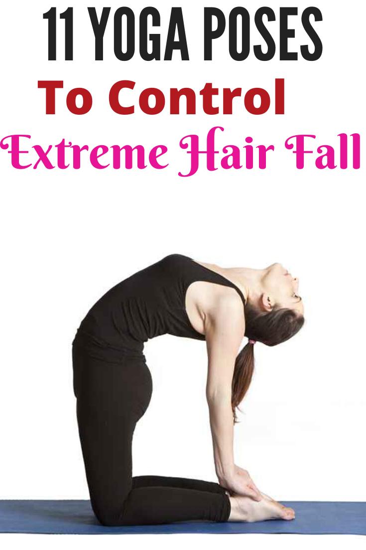 Hair fall control yoga video