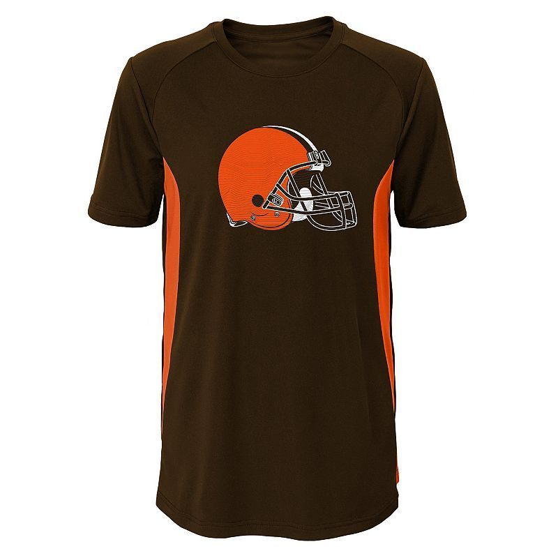 Boys 8-20 Cleveland Browns Logo Tee, Boy's, Size: Xl(18/20), Brown