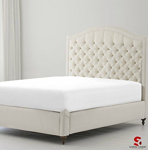 From 8.49 Sunshine Comforts Hotel Quality Percale Cotton Rich Extra Deep  40cm/16in Fitted Bed Sheets (double White)