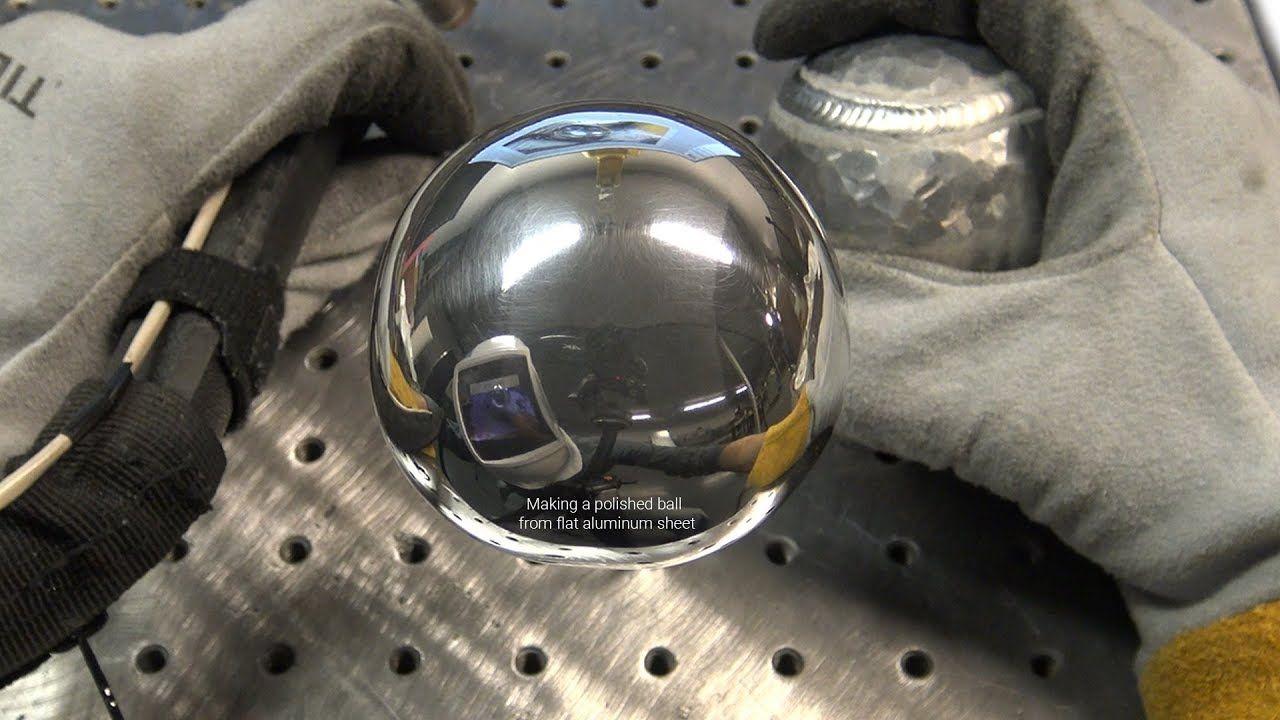 The American Fabricator Polished Aluminum Ball Challenge 1 8 Thick Flat Aluminum Sheet Not Foil Welding Art Welding Tig Welding