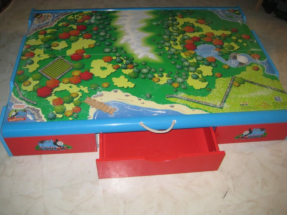 Thomas The Tank Engine Trundle Play Table With Storage Drawer