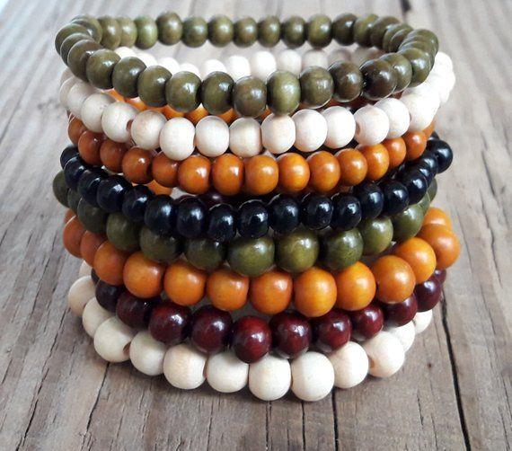 27ca6de310cd2 Wood bracelets wood bead bracelet yoga wood bead bracelet wood ...
