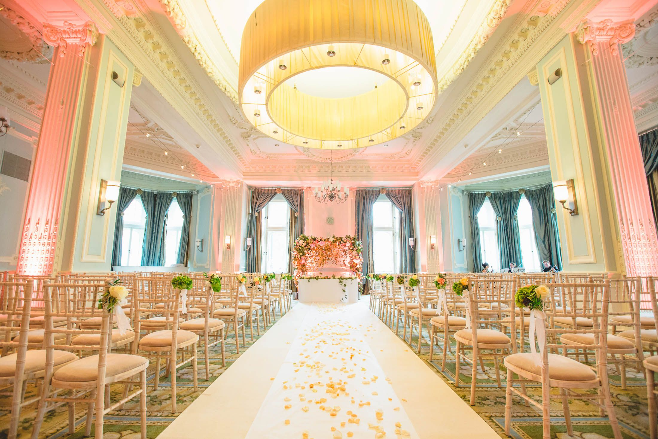 Midland Hotel The Trafford Room Decorated By Springbank Flowers